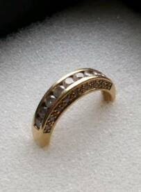 18 carat yellow gold eternity ring