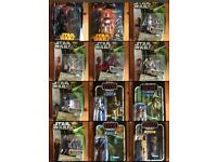 Star Wars rare collectible figures NEW factory sealed clone wars Black series Vintage Collection +++