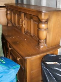 Ercol Dining table, sideboard, 4 chairs