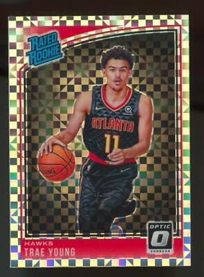 2018 Panini Donruss Optic Checkerboard Prizm #198 Trae Young SP RC Rookie