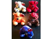 Chubbley Assorted Pattern 5 Bear Pack (16cm)