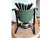 Le Creuset Enzo Mari Green Fondue Pot with Stand