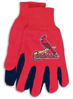 St Louis Cardinals Two Tone Adult Size Gloves [NEW] NFL Work Hands Scarf -
