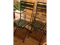 French metal chairs