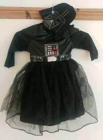 Girls star wars fancy dress 5-6 years tutu dress