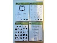 Stampin Up rubber stamps x 4 sets