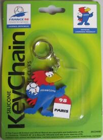 World Cup France 1998 Silicone Keyring, NEW.