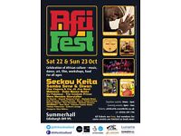 AfriFest Volunteers Needed (22nd & 23rd October, Summerhall)