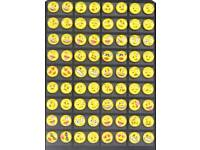 Emoji earrings variety of designs