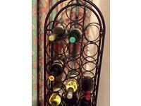 28 bottle wrought iron wine rack