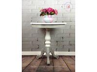 Vintage Pedestal Side Table
