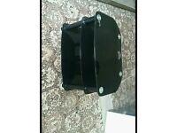 Glass black tv stand