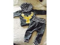 Hooded tracksuit baby boys