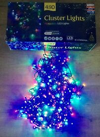New in box 480 multi function indoor outdoor Christmas lights cost £24.99