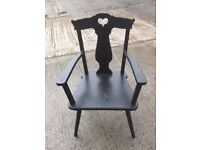 BLACK CARVER CHAIR......( FOR UP-CYCLING)