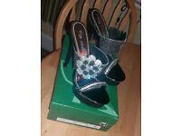 Brand New Via Qiulia Heels, Size 5, 5 inches