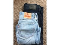 6 Pairs of men's 32 waist jeans