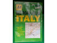 AA BIG ROAD ATLAS OF ITALY - SICILY - SARDINIA