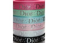 Print Baby Dior Grosgrain ribbon ,Hair Bow, crafts , dummy clip, making Scarp-booking, easter ribbon