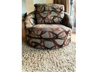 Rotating armchair cuddle chair DELIVERY INCLUDED