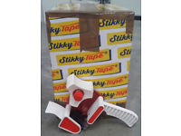 36 Rolls Brown Packaging Tape 1 Box Stikky Tape Brand