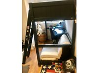 Aspace bunk bed, navy blue used in good conditions for collection