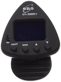 Eno ET 3000 Clip-On Guitar Tuner Black . As new.