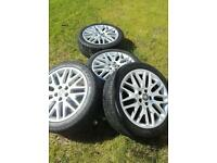 Vauxhall 18 inch xp2 alloy wheels