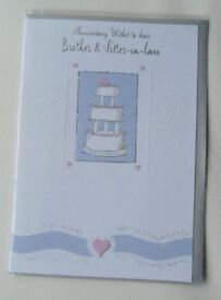 Brother & Sister In Law Wedding Anniversary Cards
