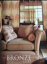 Three neutral linen Barker & Stonehouse cushions