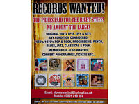RECORDS WANTED - NO AMOUNT TOO LARGE!