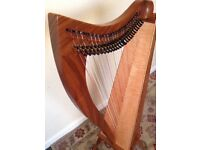 Dusty Strings FH26 Lever Harp in Walnut with Deluxe Case and Accessories