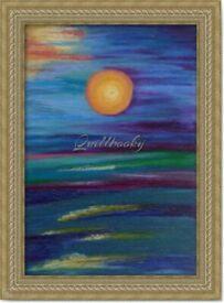Original Hand Painted Oil Pastels Art Painting Sea Sky decoration