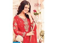 ZAIRA PAKEEZA WHOLESALE STRAIGHT FUNCTION WEAR SALWAR KAMEEZ