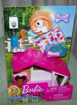 Barbie Dog House & Accessories Playset New