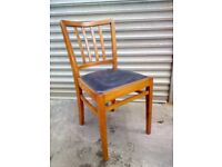 Set of FOUR Vintage Retro Wood Dining or Kitchen Chairs