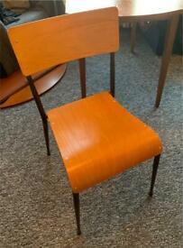 Vintage wood school chair