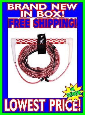 "AIRHEAD Dyna Core Tow Rope EVA Wakeboarding Water Ski Knee Board 15"" Grip 70ft"