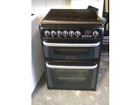 6 MONTHS WARRANTY Black /silver Cannon 60cm, double oven electric cooker FREE DELIVERY