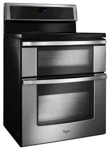 Whirlpool YWGI925C0BS Induction Double Oven Range Convection Self Clean Stove