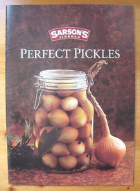Sarson's vinegar Perfect Pickles paperback booklet: pickled onions to Thai banana & coconut chutney!