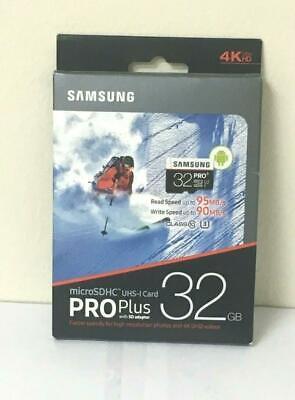 Samsung 32GB PRO Plus Class 10 Micro SDHC with Adapter 95MB/s MB-MD32DA/AM-NEW](samsung pro plus 32gb microsdhc)