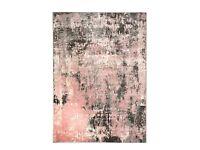 Dunelm Pink & Grey Rug