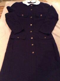 A navy blue vintage dress by Windsmoor ~size 12