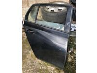 Mk6 golf rear drivers door in black complete with glass and lock