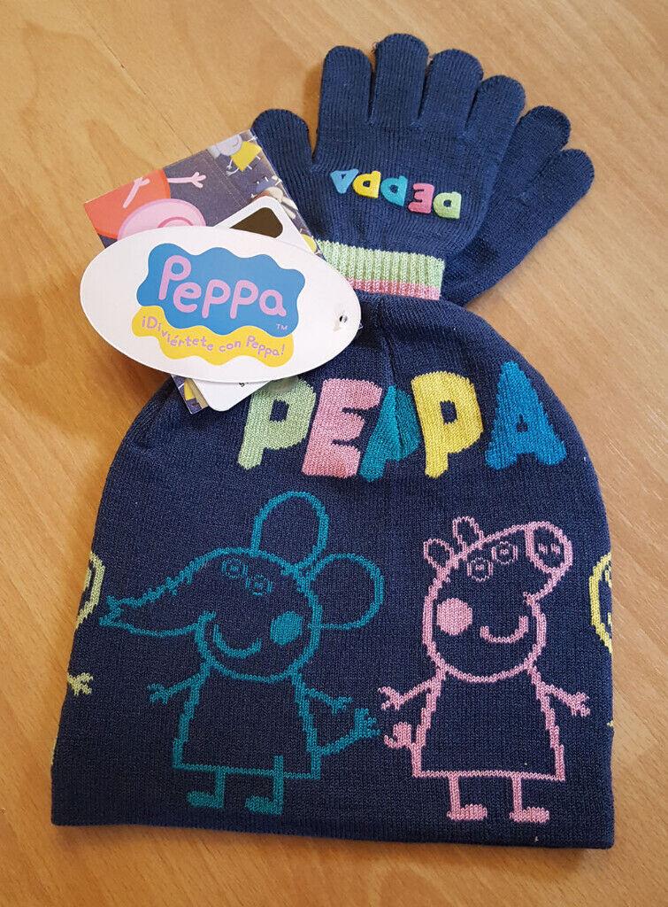 7ac7200f84e0f Peppa Pig Matching Blue Hat   Gloves Accessory Set - NEW!