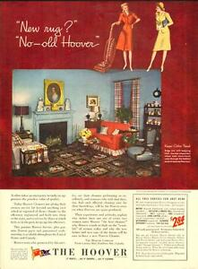 1944 large full-page magazine ad for Hoover Vacuums