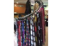 Retail Clothes Rail suitable for Scarves, Clothes, ideal for Shops, Gift Fayres, Events, Markets