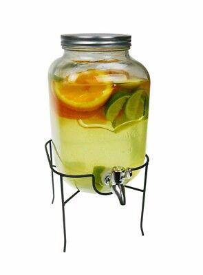 Getränkespender mit Zapfhahn  Zapfsäule Dispenser aus Glas 4  L (Zapfsäule Getränke Spender)