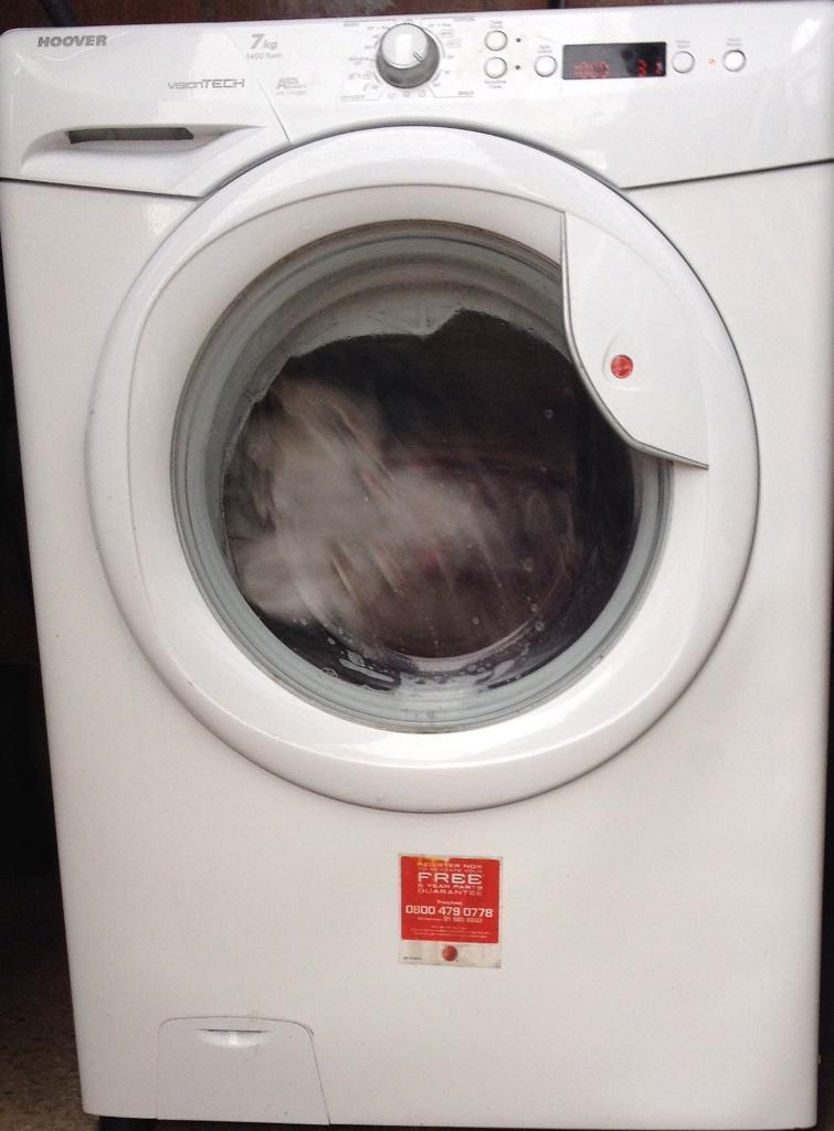 Hoover washing machine 7kg load 1400 spin in great condition and fully working order